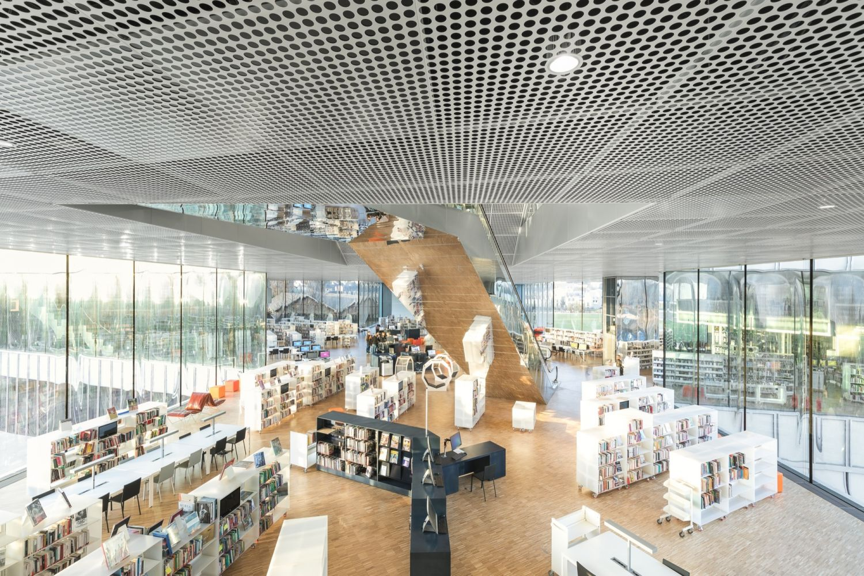 Bibliothèque Alexis de Tocqueville à Caen - Arch. OMA & Barcode Architects - Photos : Delfino Sisto Legnani et Marco Cappelletti