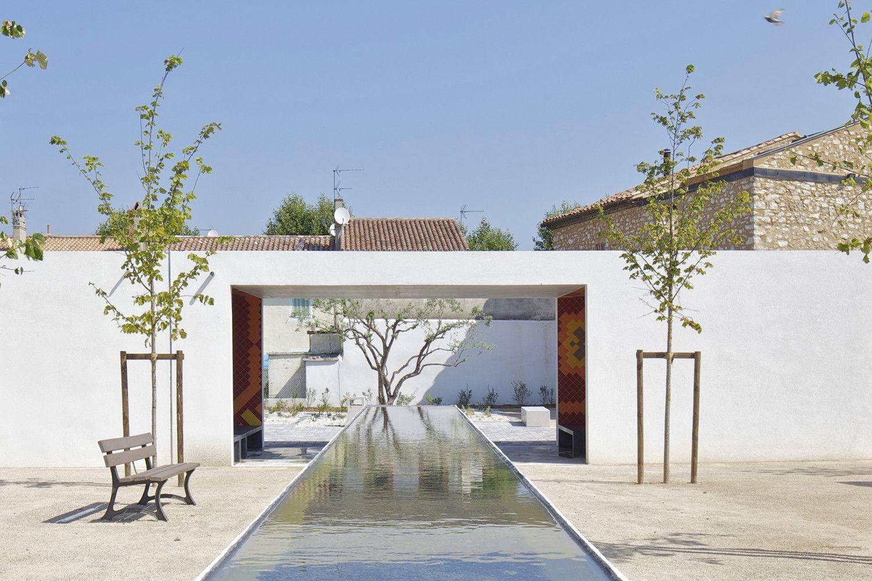 Pavillon et Square de Gignac La Nerthe - Arch. Baito - Photo : Philippe Ruault