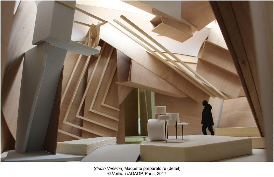Studio Venezia, Maquette préparatoire (détail) © Veilhan - ADAGP, Paris, 2017