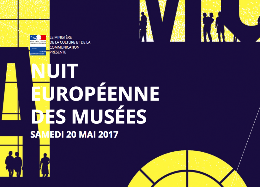 Affiche de la 13ème Nuit Européenne des musées
