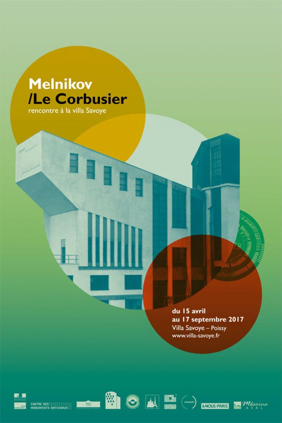 Melnikov/Le Corbusier, rencontre à la villa Savoye - © Le CMN