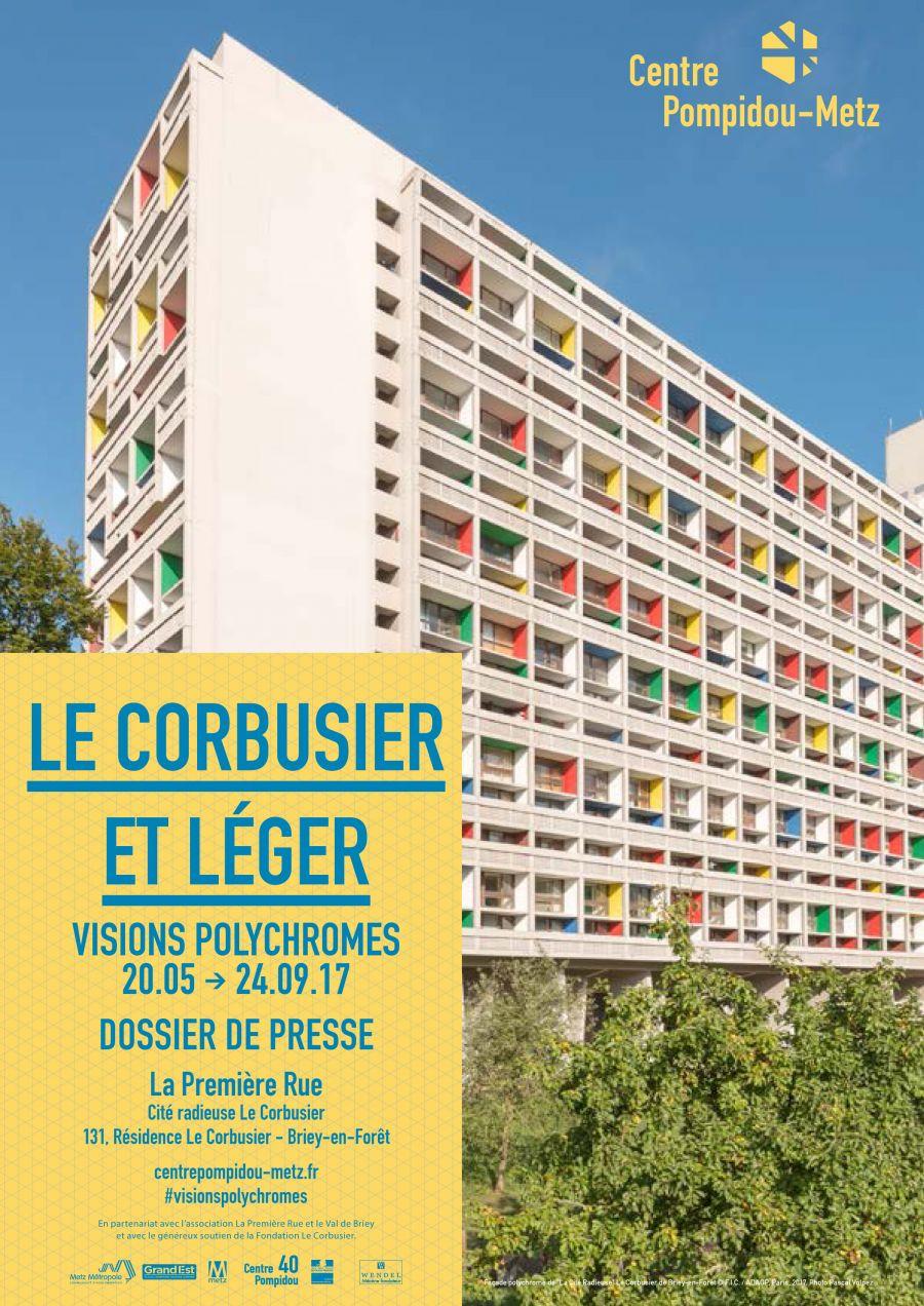 Le Corbusier et Léger, Affiche de l'exposition - © Centre Pompidou-Metz