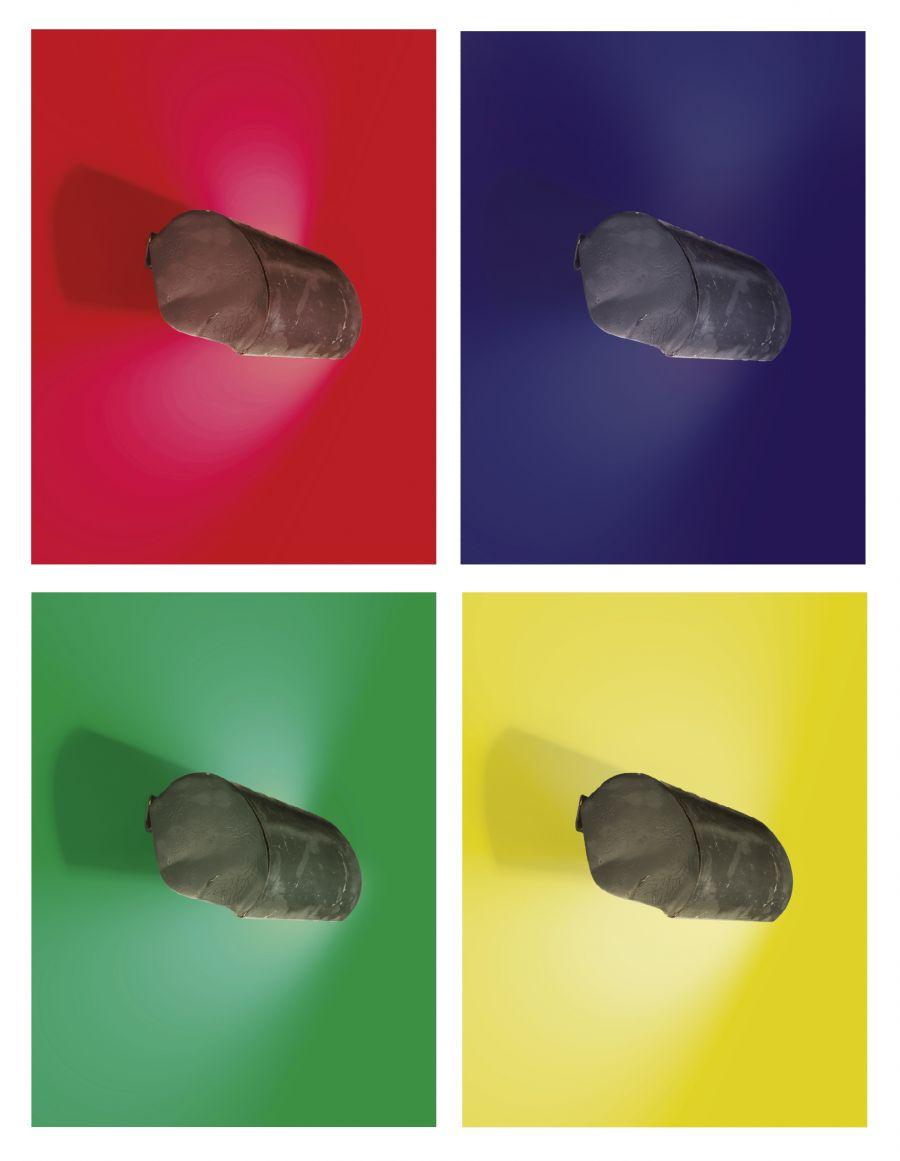 Charles-Edouard Jeanneret dit Le Corbusier, applique LC III, création 1949, métal, provenant de l'Unité d'habitation de Firminy