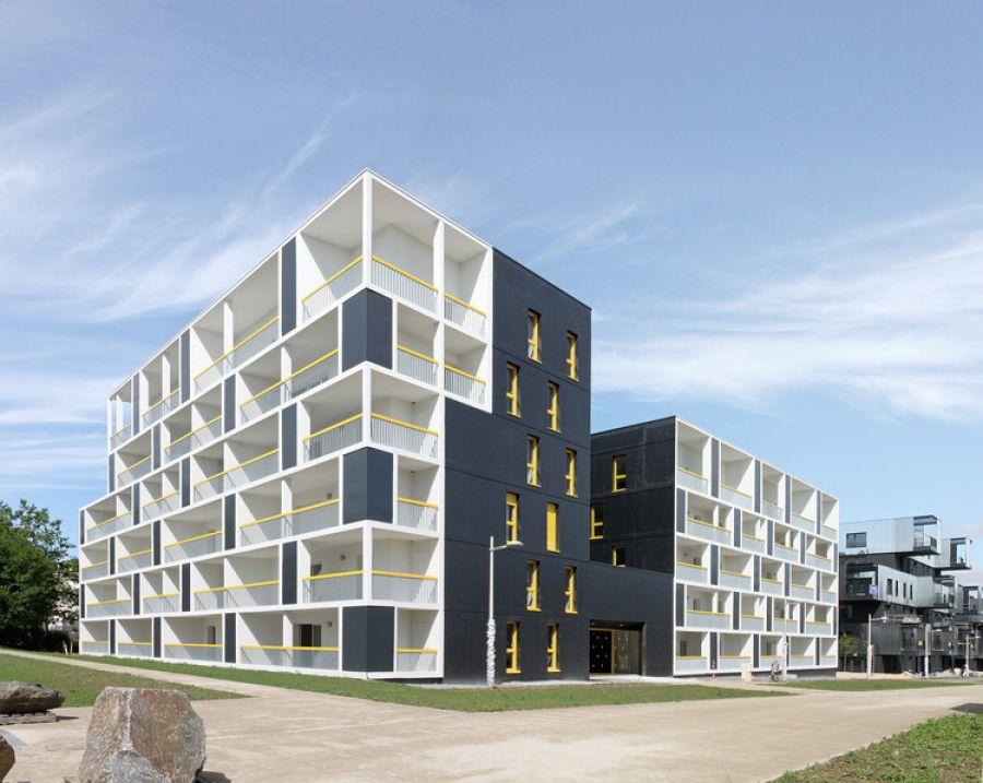 45 logements nantes par jacques boucheton architectes. Black Bedroom Furniture Sets. Home Design Ideas