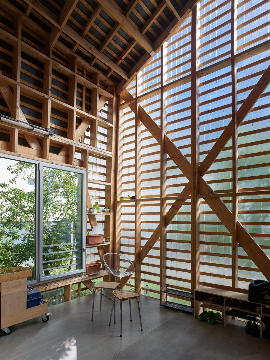 Maison sur pilotis à Rennes - Arch. MNM architectes - Photo : Stephane Chalmeau