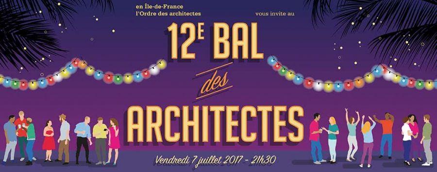 Affiche du 12e bal des architectes