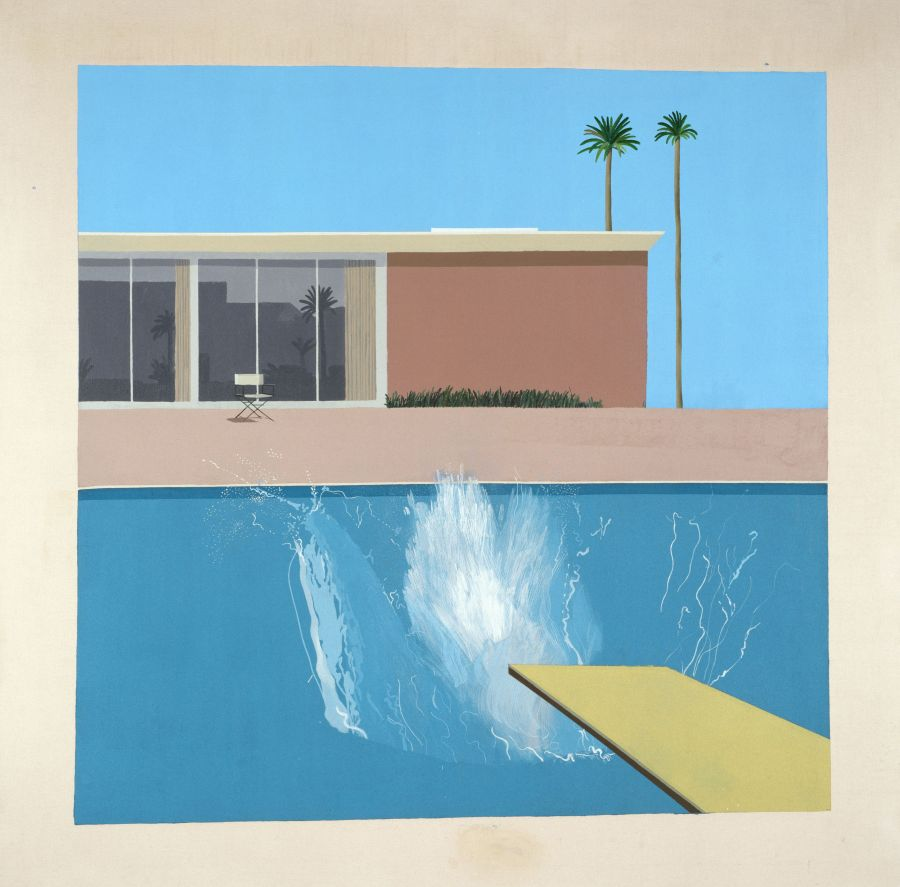 A Bigger Splash, 1967 Acrylique sur toile - © David Hockney Collection Tate, London