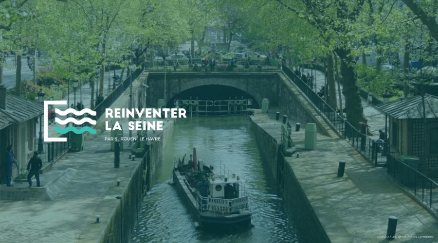 Réinventer la Seine - Illustration du site web officiel