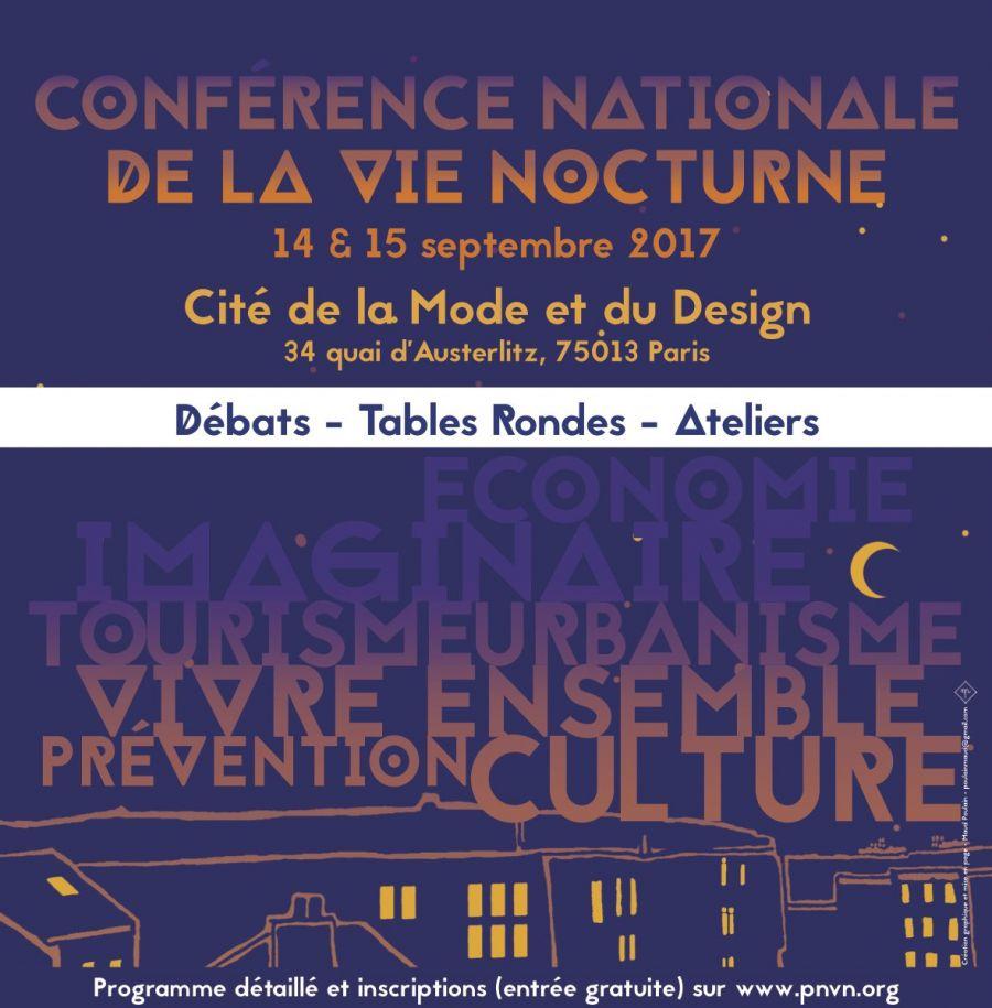 Conférence Nationale de la Vie Nocturne, les 14 et 15 septembre à Paris