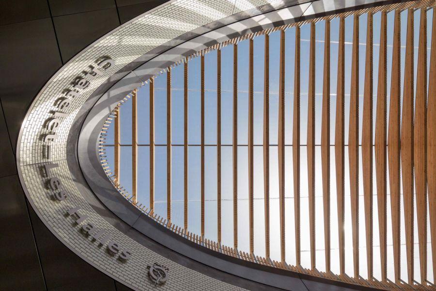 Porte Marguerite de Navarre, RER Châtelet-Les Halles - Arch. 169 Architecture - Photo : Pierre L'Excellent