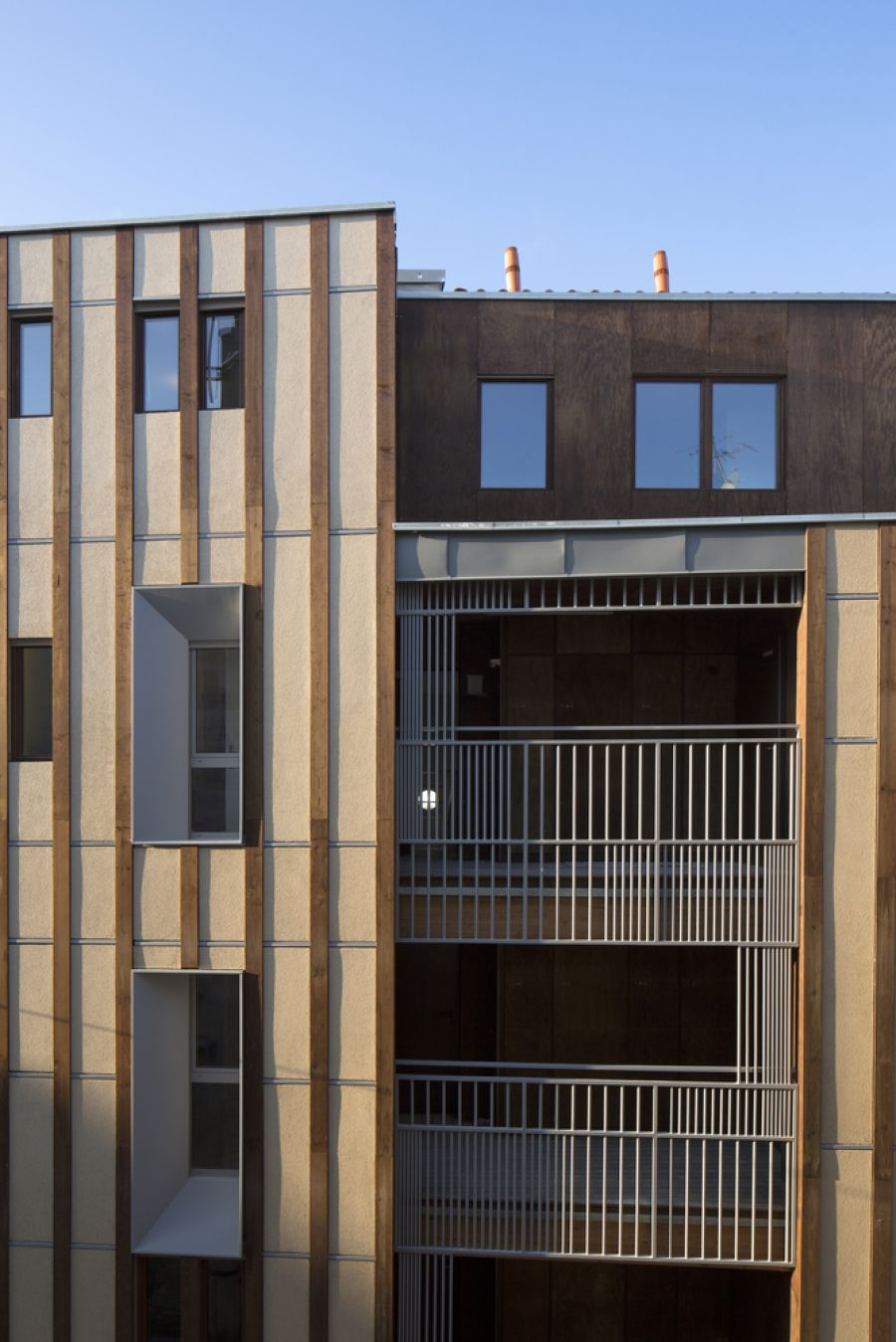 16 logements à Bordeaux - Arch. whyarchitecture - Photo : Benoit Bost