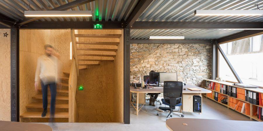 Immeuble de bureaux à Nantes - Arch. DLW Architectes - Photo : François Dantart