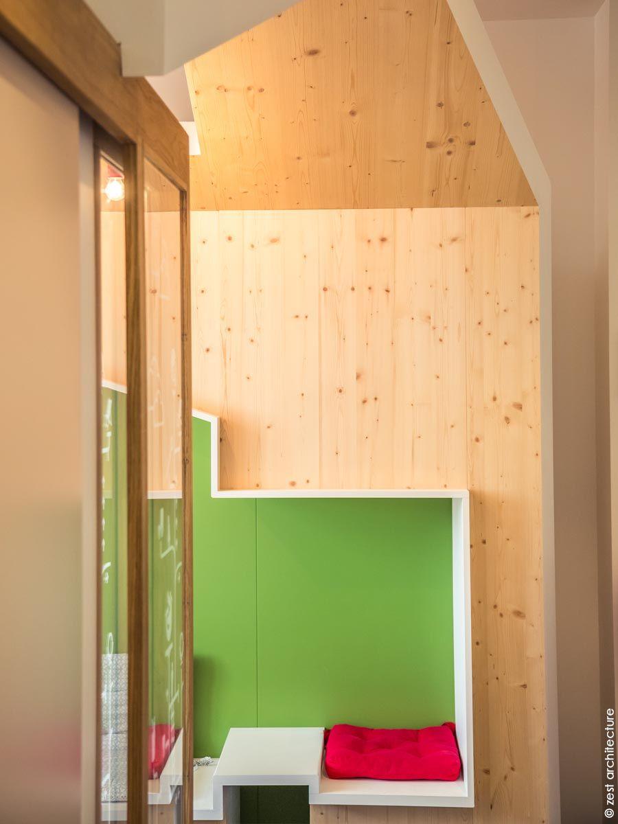 Aménagement d'un cabinet dentaire pédiatrique dans des locaux existants - Arch. Zest Architecture - Photo : © Zest Architecture