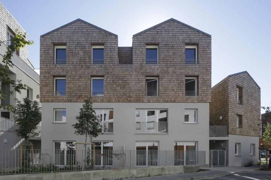 25 logements sociaux à Palaiseau - Arch. SML architectes - Photo : Hervé Abbadie
