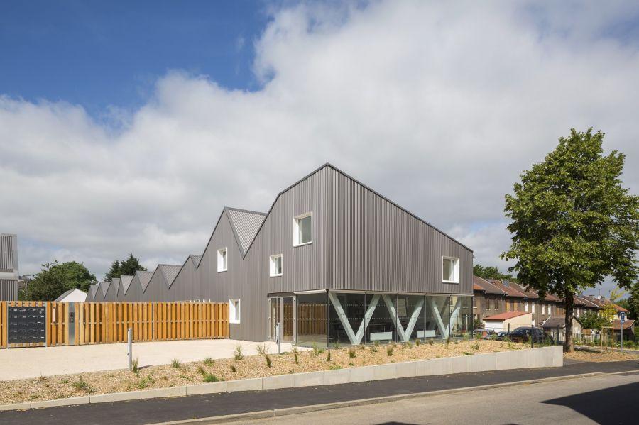 Résidence Stéphane Hessel - Arch. Pluriel[les] Architectes, Michael Placidi Architecte - Photo : Hervé Abbadie