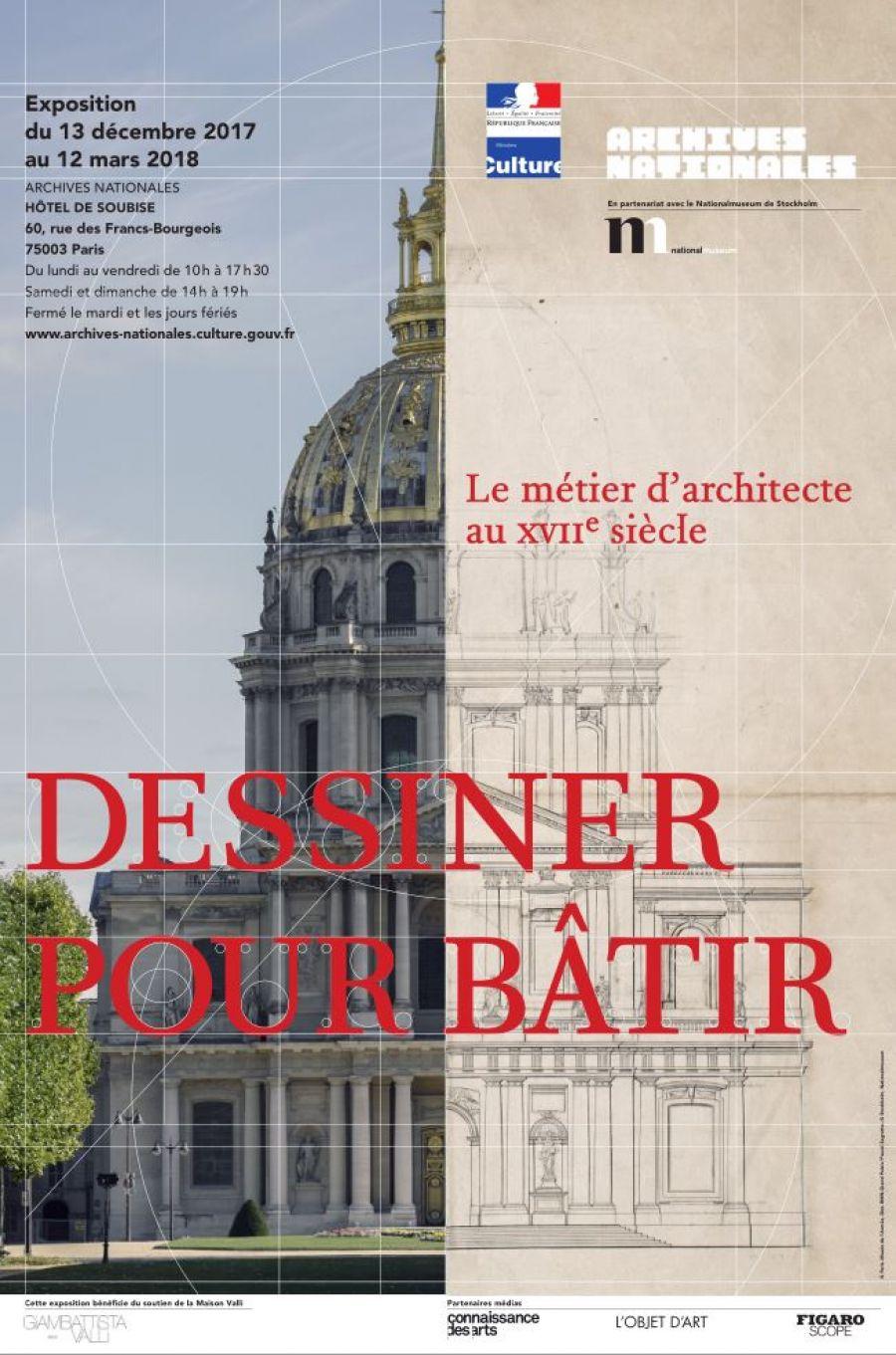 Dessiner pour bâtir, exposition aux Archives Nationales - Via twitter.com/ArchivesnatFr