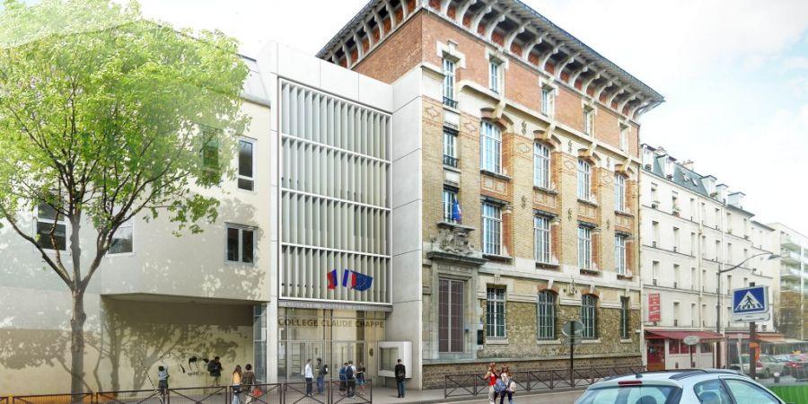 Collège Claude Chappe, à Paris - Arch. Cobalt (réhabilitation)