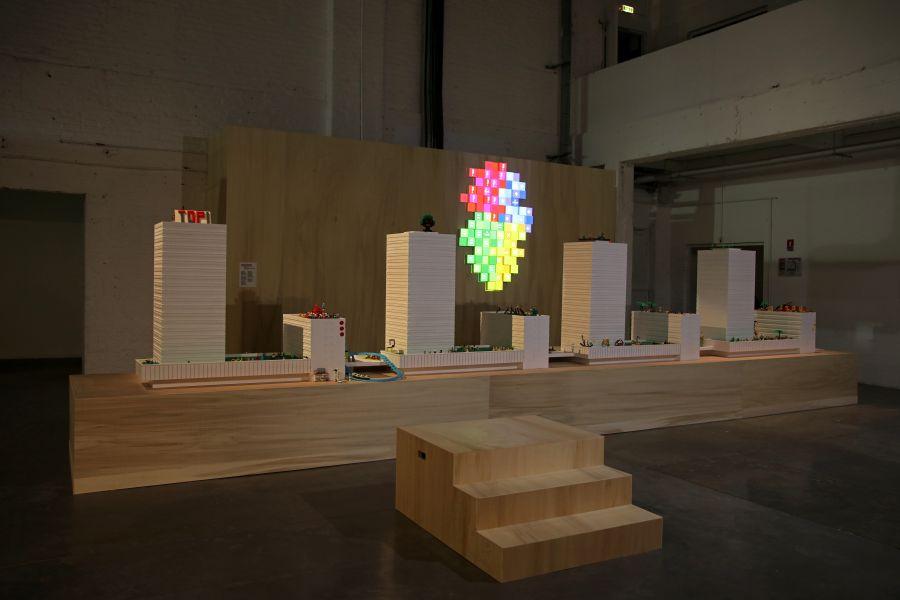 La bourse des possibles, de Malte Martin et Etienne Delprat - Exposition Habitarium, à la Condition Publique - Photo : Maxime Dufour