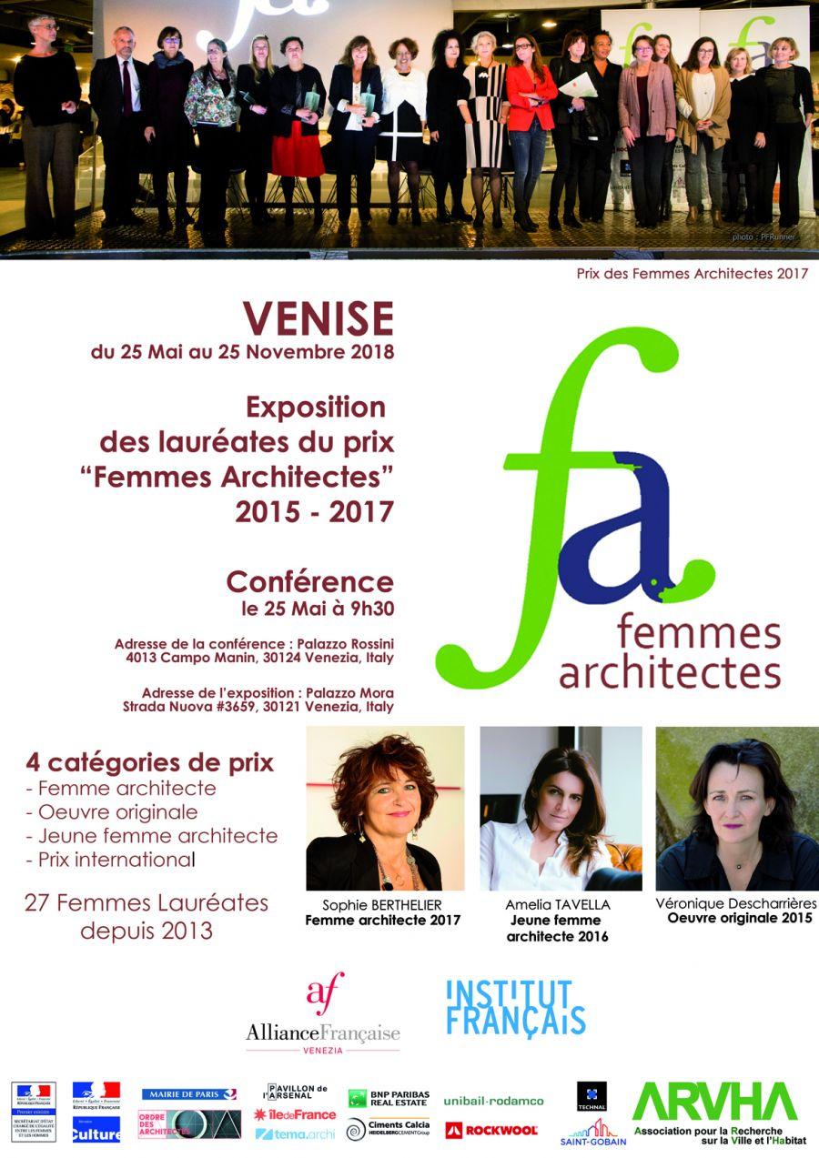 """Affiche de l'exposition des lauréates du prix """"Femmes architectes"""""""