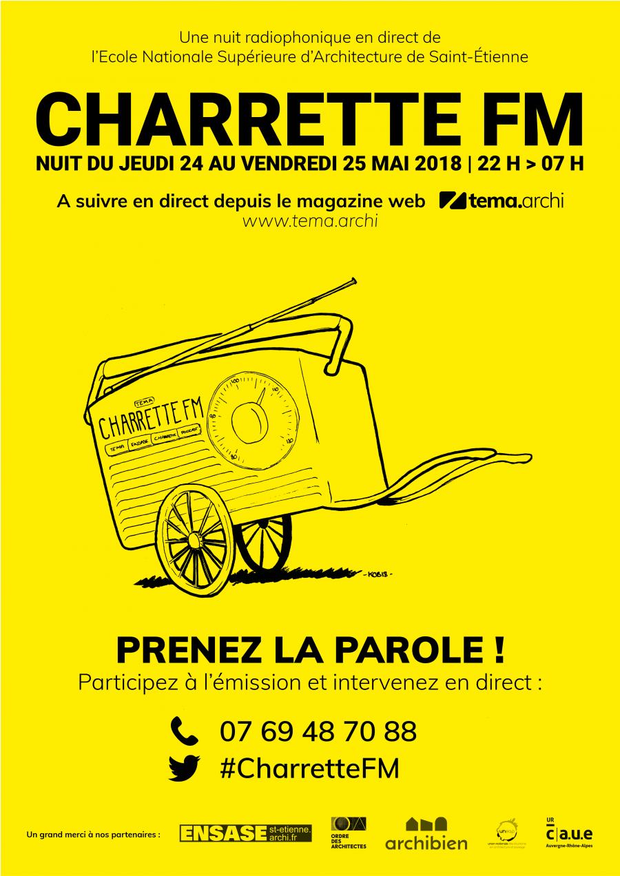 Charrette FM : une nuit de radio depuis l'école d'architecture de Saint-Étienne