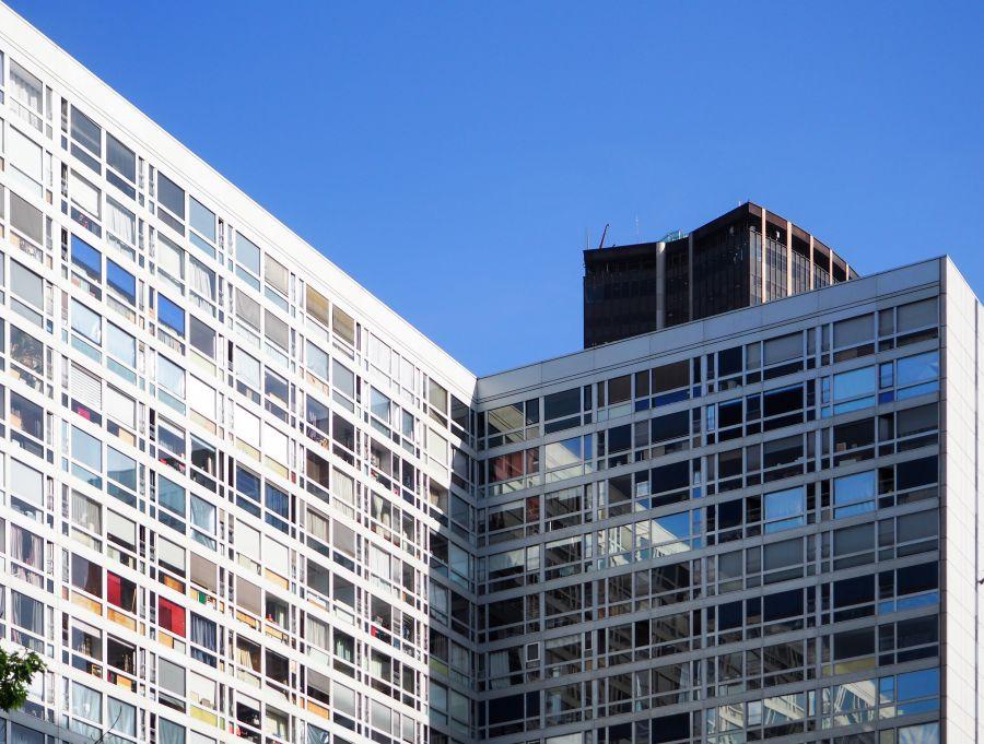 Immeuble d'habitation Maine-Montparnasse II de Jean DUBUISSON, Paris, 15ème arrondissment © Yasmine TANDJAOUI