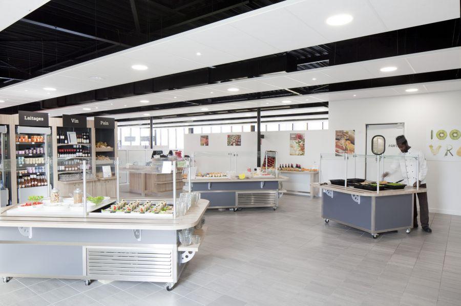 Restaurant Inter-Entreprise - Arch. Atelier Didier Dalmas - Photo : Jérôme Ricolleau, Tristan Deschamps