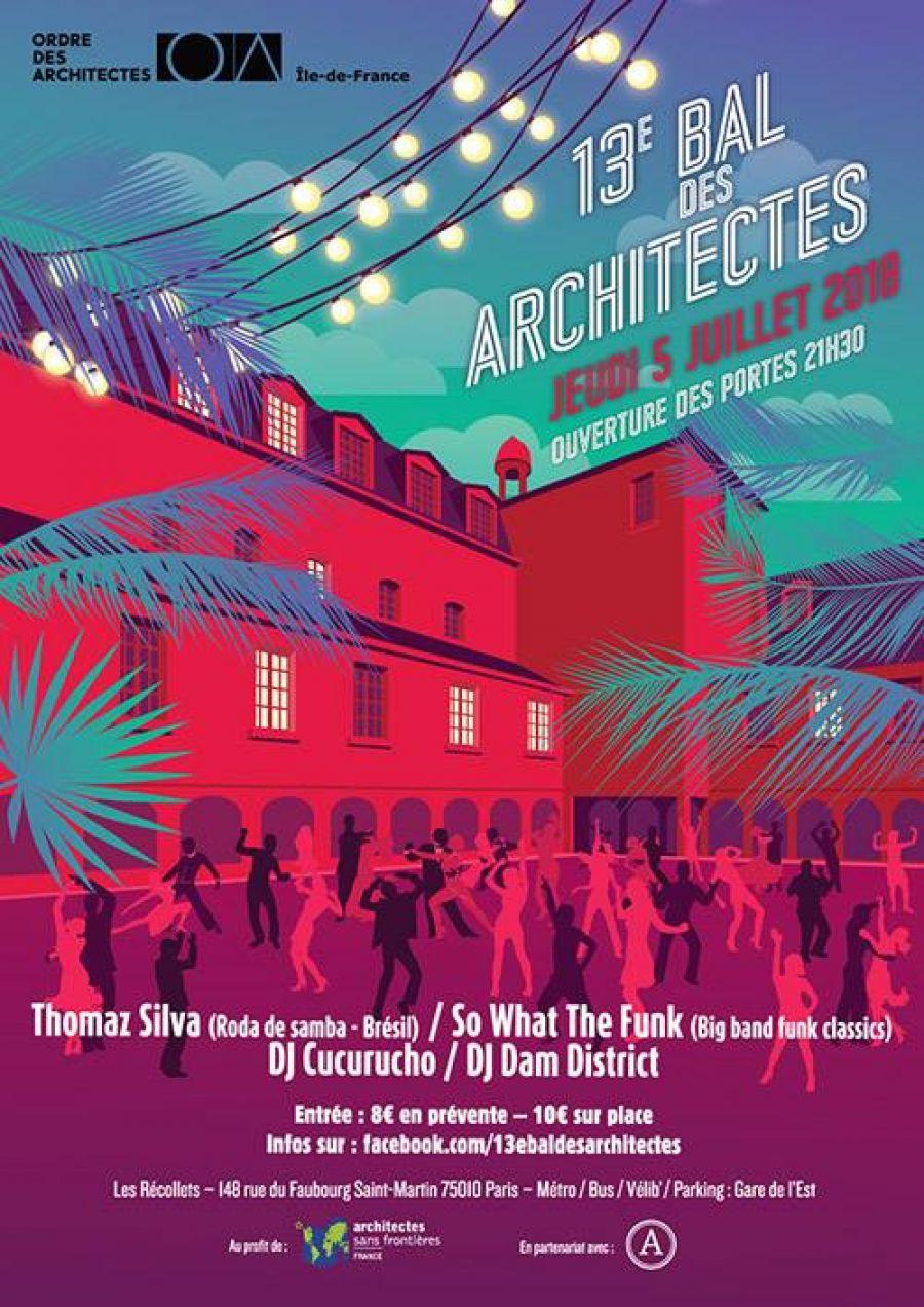 Affiche du 13e bal des architectes