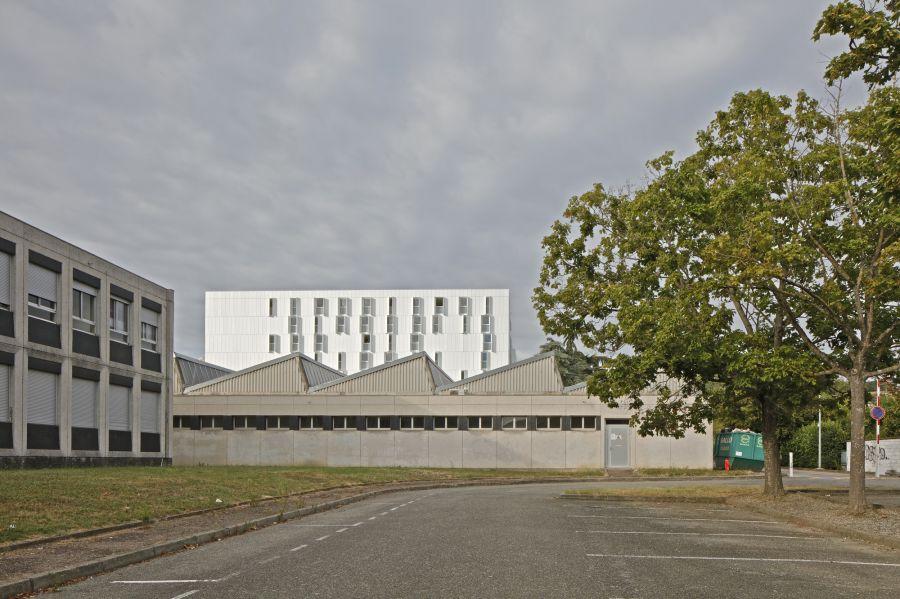 Résidence Universitaire Olyme de Gouges - Arch. PPA Architectures - Photo : Antoine Séguin, Philippe Ruault