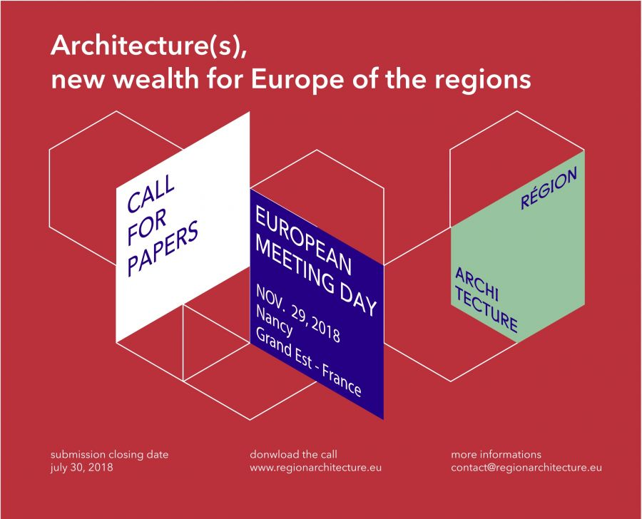 European Meeting Day - Call for Papers - Région Architecture