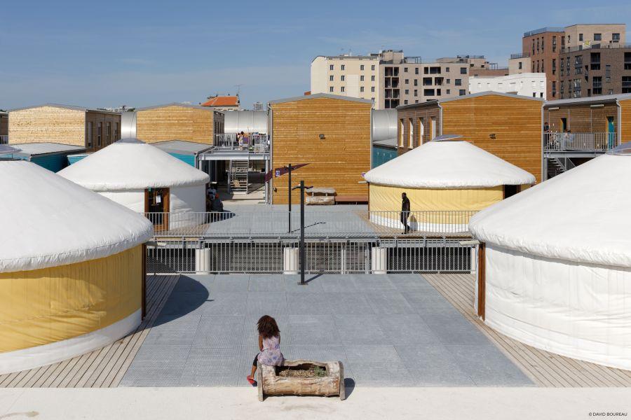 Centre d'hébergement d'urgence pour migrants - Arch. Atelier RITA - Photo : David Boureau