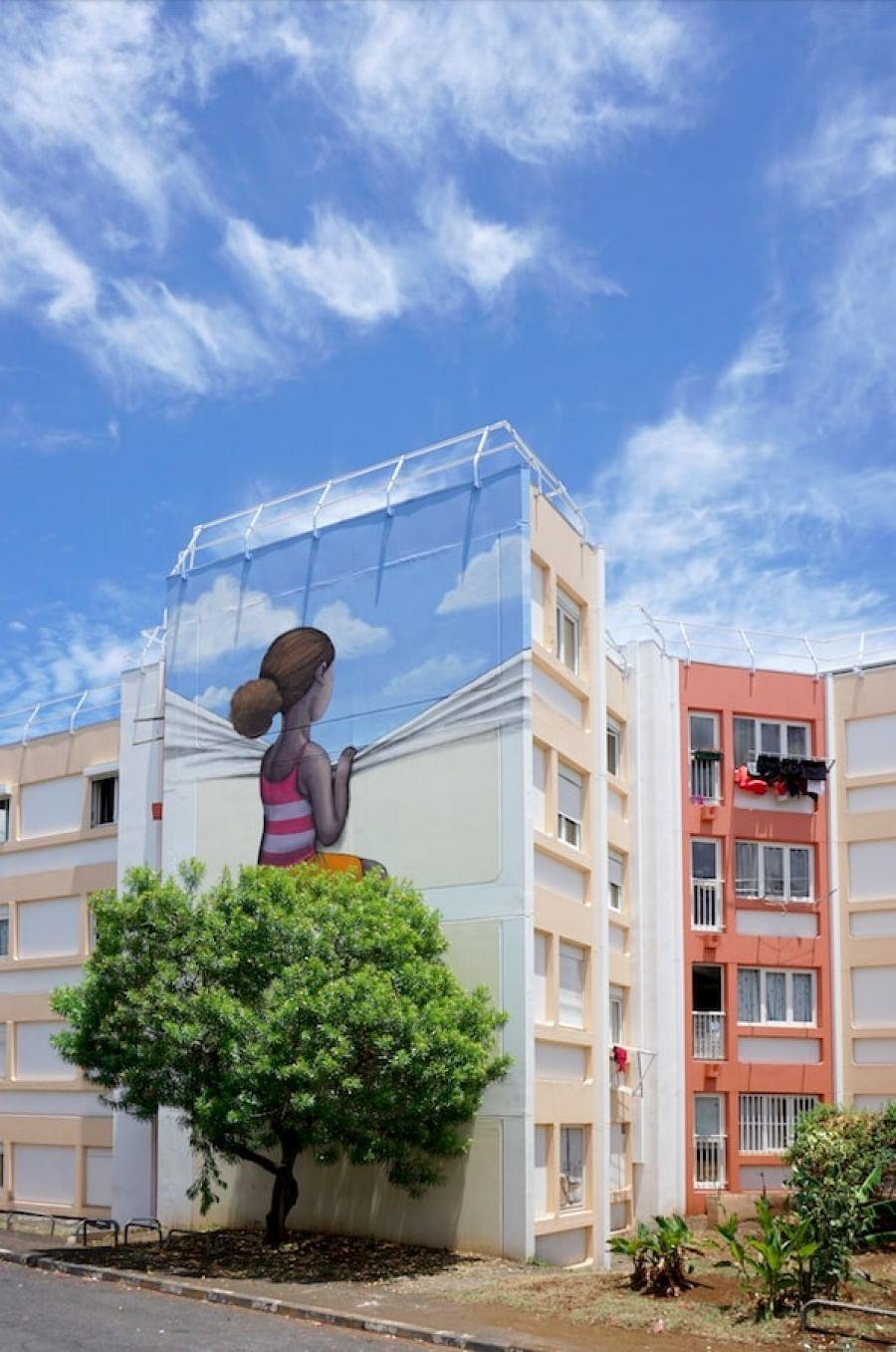 Dans le ciel, Le Port (La Réunion), 2015 - Photo : Seth