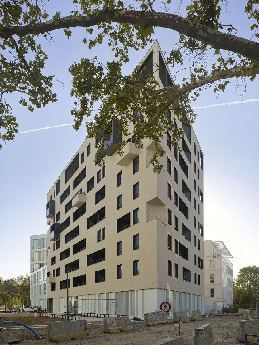 Résidence l'Empreinte - Arch.Taillandier Architectes Associés - Photo : Roland Halbe