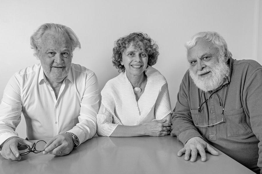 Philippe Madec (architecte-urbaniste), Dominique Gauzin-Müller (architecte) et Alain Bornarel (ingénieur) - Photo : Pierre-Yves Brunaud