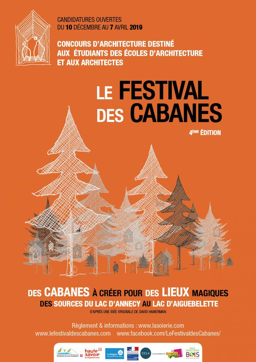Affiche du festival des cabanes, 4ème édition - Image : Festival des cabanes