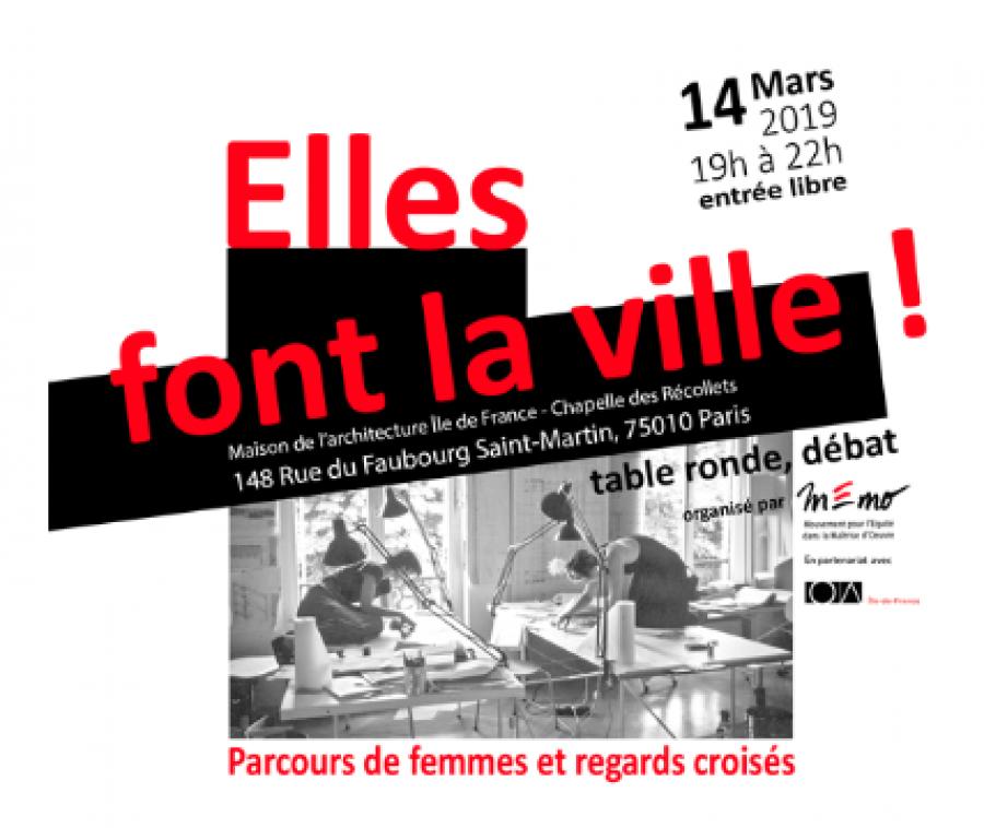 """"""" Elles font la ville """", une soirée débat organisée le 19 mars - Image : DR"""