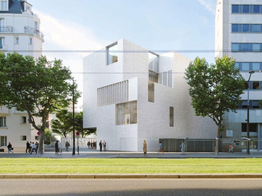 Le conservatoire Vandal, dans le 14ème arrondissement à Paris - Arch. Bruno Madec - Image : Mairie de Paris 14