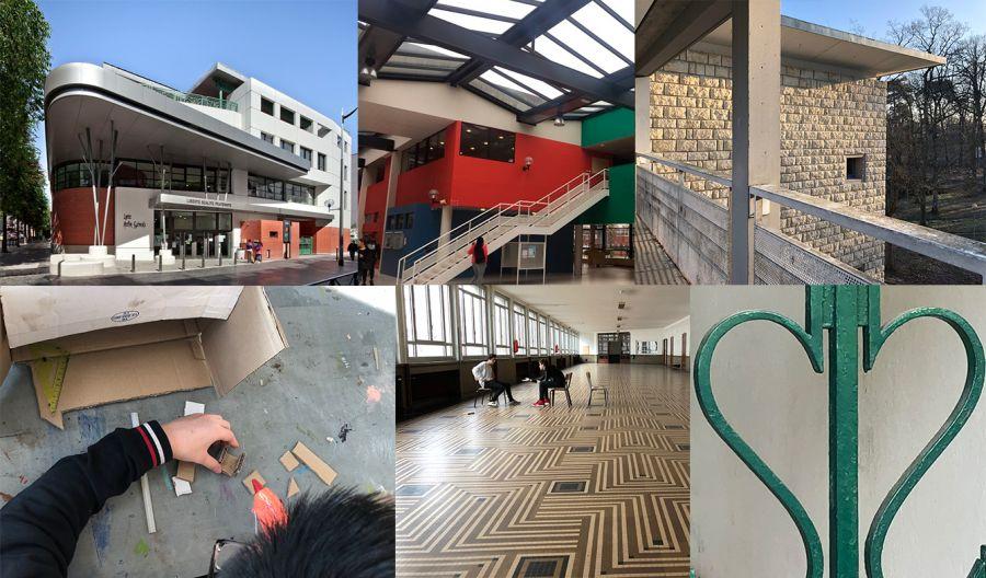 En images, le travail mené par les étudiants et lycéens dans le cadre de l'appel à projet «il était une fois mon bahut» Image : DR via ENSA Paris-Malaquais
