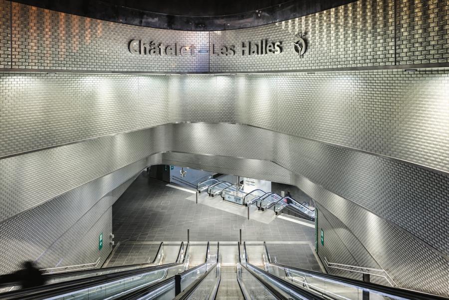 Carreau en verre - Châtelet les Halles - Arch. Patrick Berger & Jacques Anziutti, lauréats de la 5ème édition - Photo : Sergio Grazia