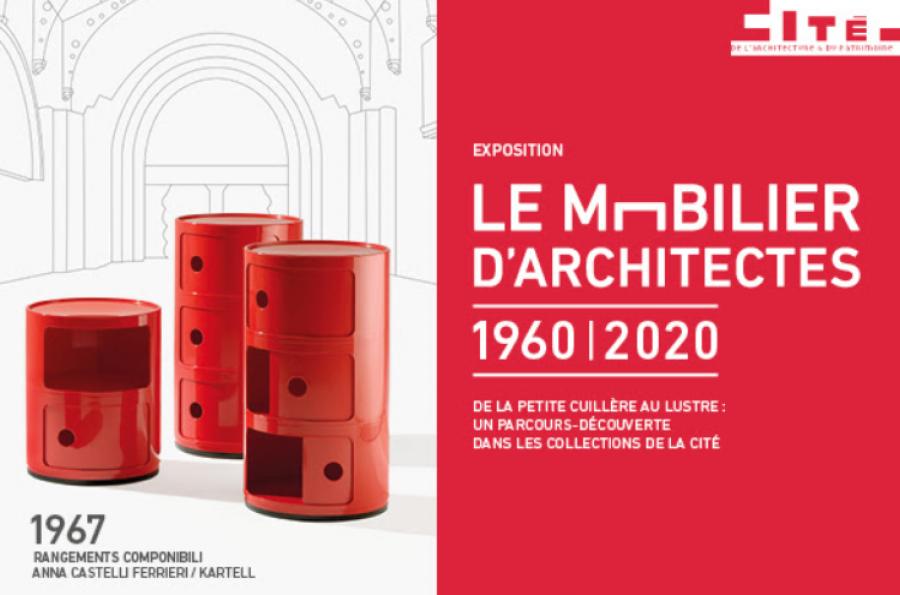 Exposition le Mobilier d'architectes à la Cité de l'architecture et du patrimoine - Image : via Cité de l'architecture et du patrimoine