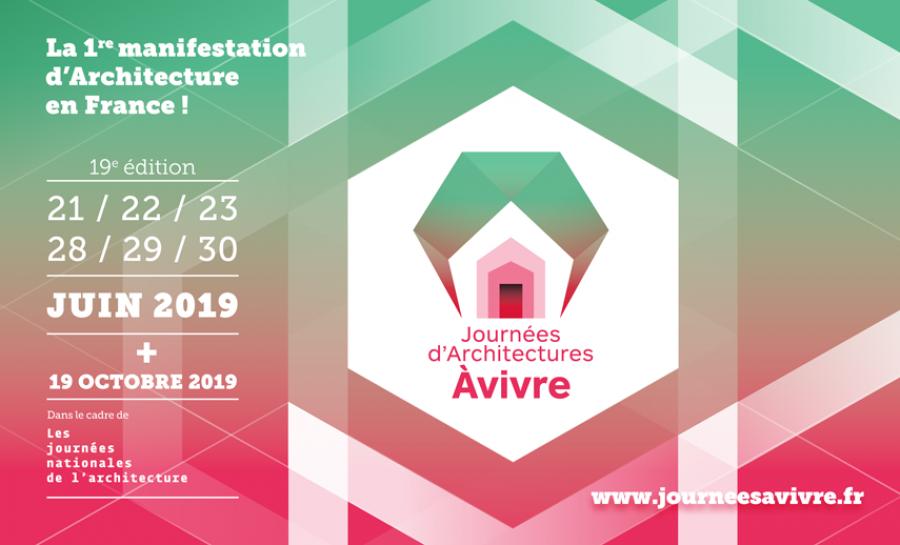 Les journées d'Architectures à Vivre seront organisées les 21,22,23 et 28,29 et 30 juin 2019 - Image via À Vivre