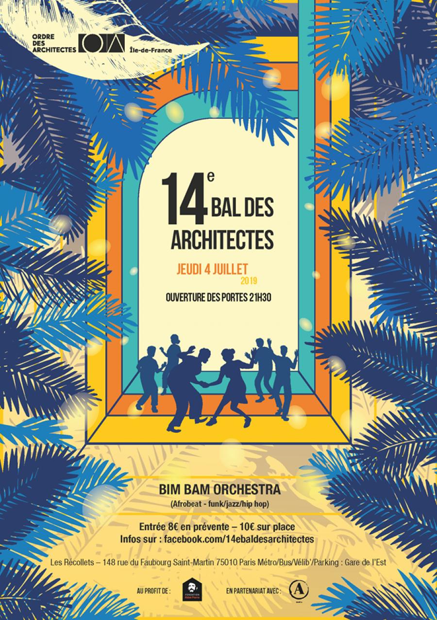 La 14ème édition du Bal des architectes - Image via Ordre des architectes d'Île-de-France