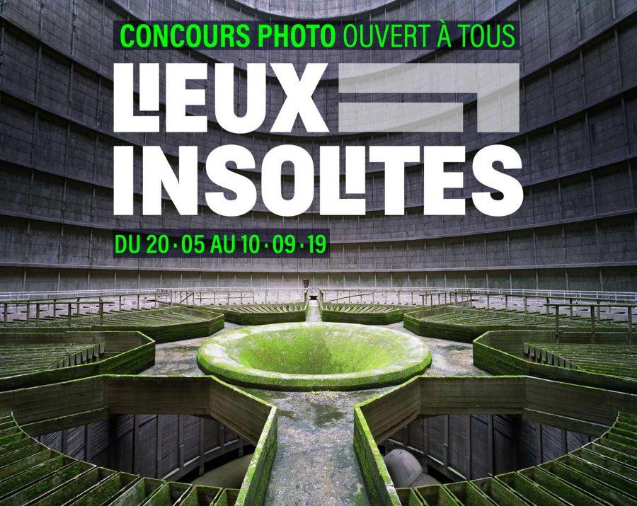 Affiche du concours photo Lieux Insolites de l'Andra et Polka - via andra-lieuxinsolites.fr