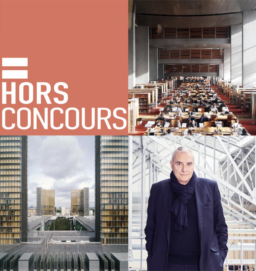 Dominique Perrault, invité spécial du podcast Hors Concours le 20 novembre 2019 © Alexandre Tabaste, Georges Fessy, Dominique Perrault architecte, adagp