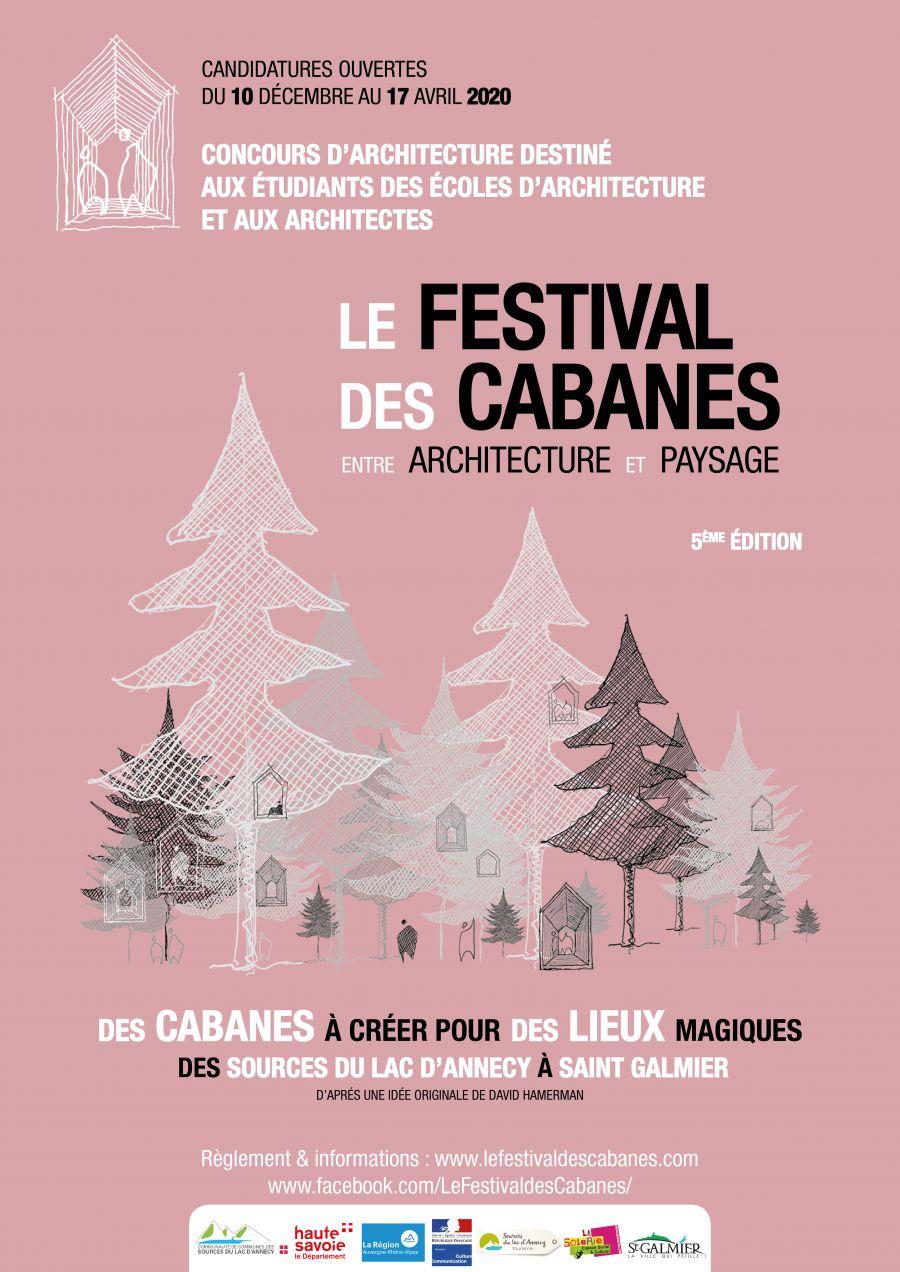 Affiche de la 5e édition du Festival des Cabanes © Festival des Cabanes