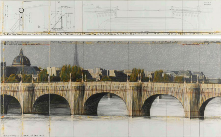 Le Pont-Neuf empaqueté (Projet pour Paris) © Christo 1985, Philippe Migeat