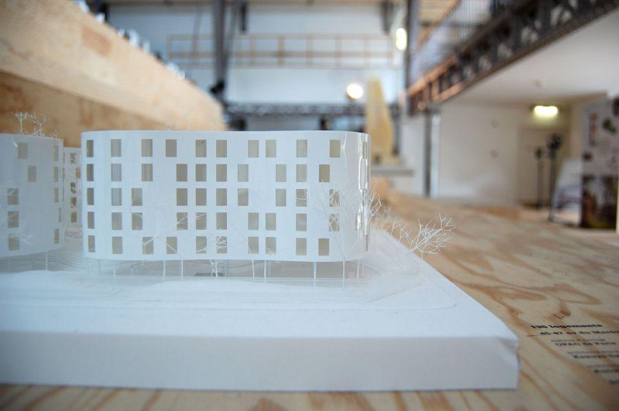 SANAA projet XVIe arr. // exposition pavillon de l'arsenal // scénographie block © Alan Hasoo (CC BY-NC-ND 2.0)