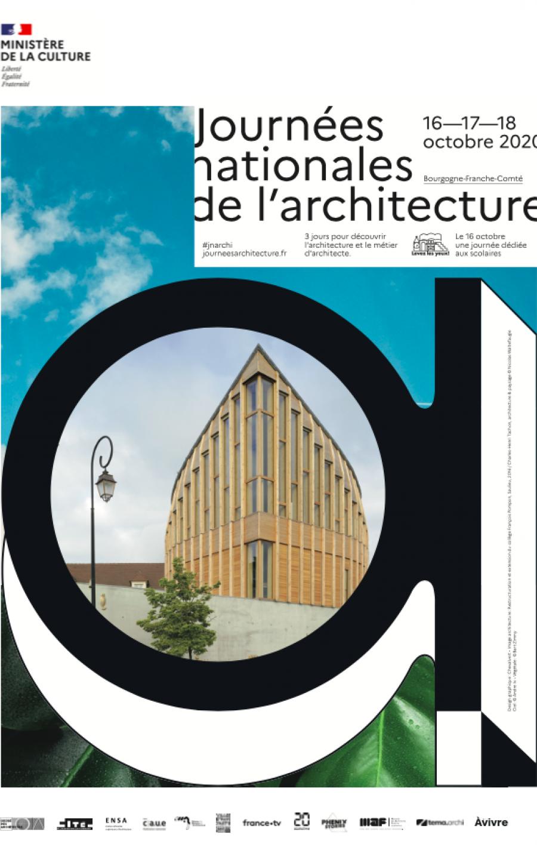 Affiche JNA Bourgogne Franche-Comté - Collège François Pompon - arch. Charles-Henri Tachon © Ministère de la Culture