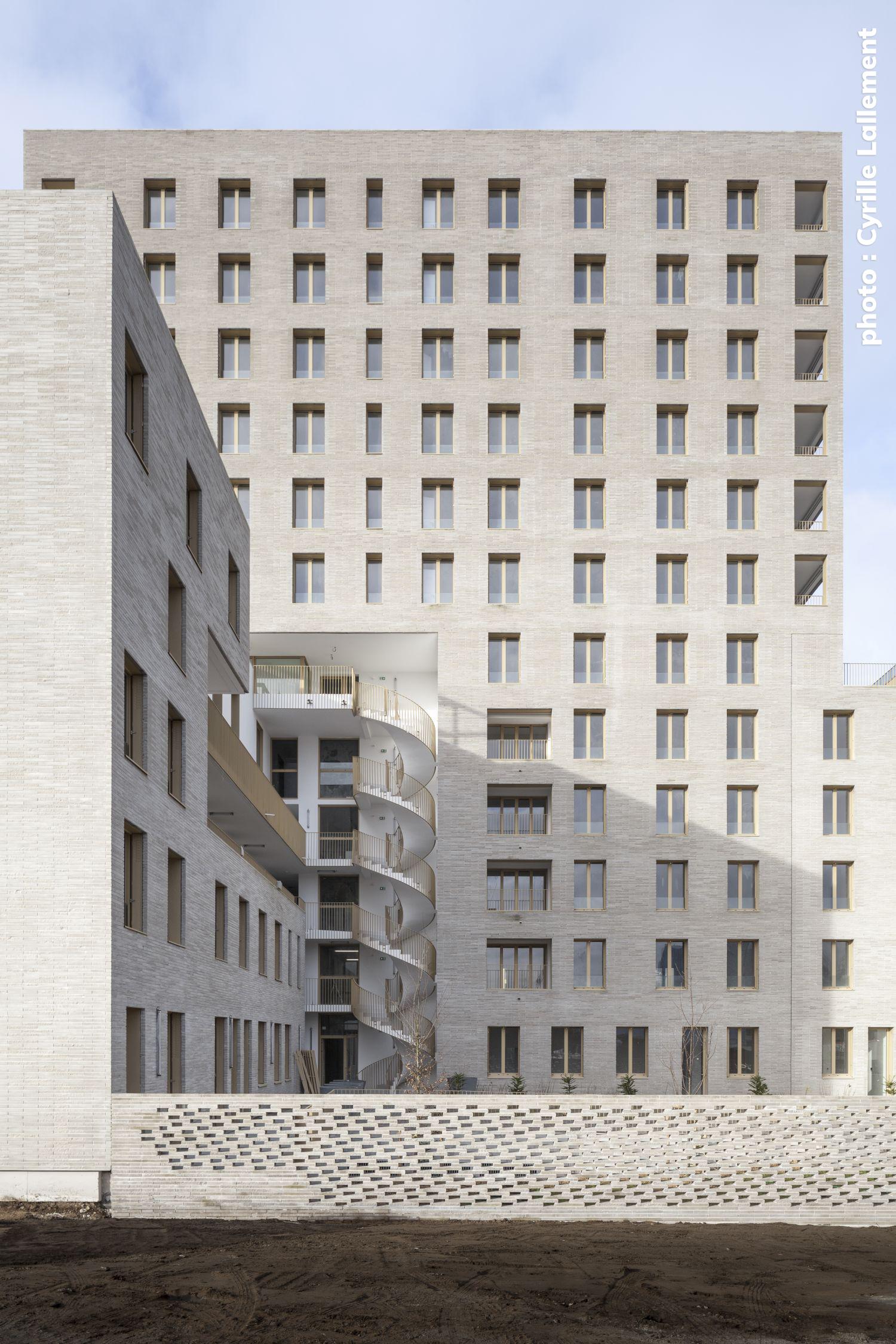 Logements à Nantes - Arch.tectône architectes urbanistes et Tact architectes © Stéphane Chalmeau et Cyrille Lallement