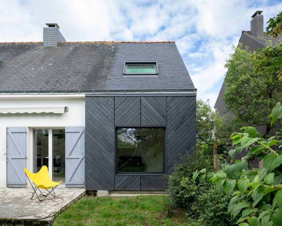 Extension d'une maison - Arch. Hugo Cardin Architecte © François Dantart