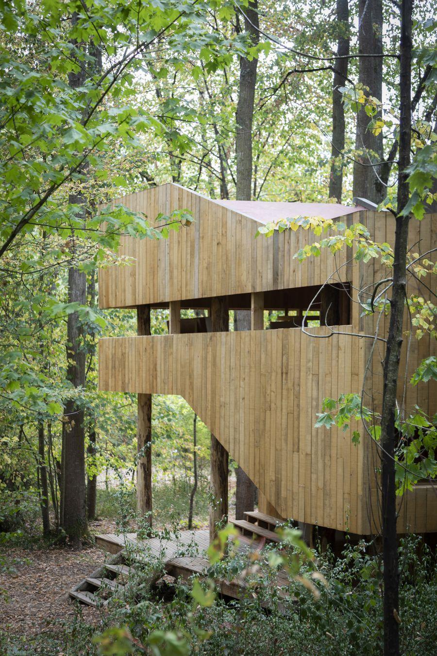 Maison 100 % bois - Arch. LOCAL et  Peeraya Suphasidh Studio © Atelier Vincent Hecht